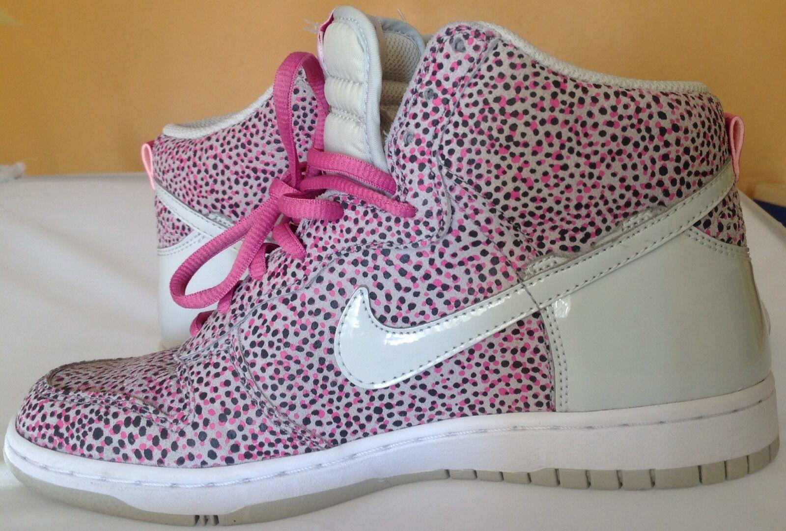 official photos 6db49 1bf9c Nike Women Dunk Hi Hi Hi Skinny Print Sneaker Shoe 543242-005 Grey Violet