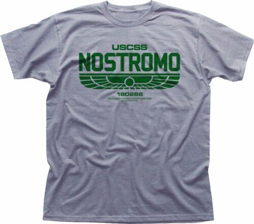 ALIENS USCSS NOSTROMO Weyland Yutani heather grey printed t-shirt OZ5163