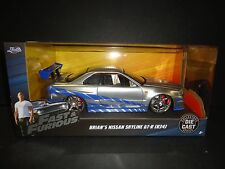 Jada Nissan Skyline GT-R R34 Brian's Fast and Furious 1/24 97158