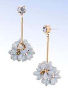 Details about BAUBLEBAR Gold-Tone NOEL Shimmering GRAY Bead Drop EARRINGS