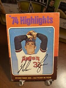1975 Topps Nolan Ryan #5 - '74 Highlights