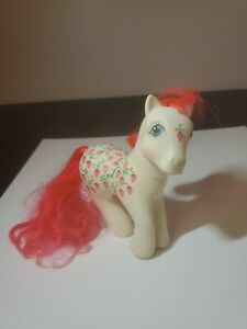 Vintage-G1-My-Little-Pony-039-Twice-as-Fancy-039-BABY-SUGARBERRY-Strawberries-MLP