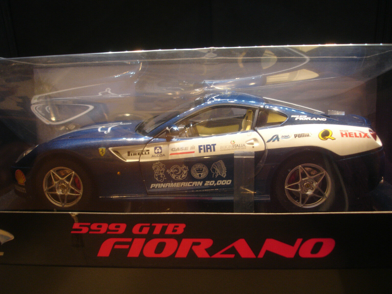 Ferrari 599 Gtb Fiorano Panamerican 20000 Hot Wheels Elite 1 18
