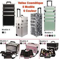 Trolley Valise Palette Maquillage Boîte À Maquillage Bijoux Et Cosmétique Alumin