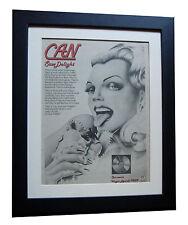 CAN+Saw Delight+KRAUTROCK+POSTER+AD+FRAMED+RARE ORIGINAL 1977+FAST GLOBAL SHIP