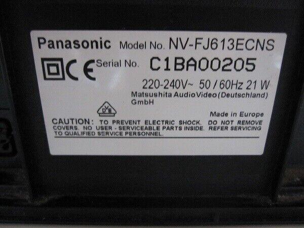 VHS videomaskine, Panasonic, NV-FJ613