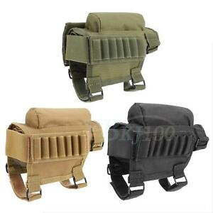 Portable-Hunting-Buttstock-Cheek-Rest-W-Ammo-Carrier-Pouch-ZY