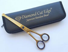 """Professional Dog Grooming Scissors Shears 6.5"""" Face Paw Curved Japanese + Case"""