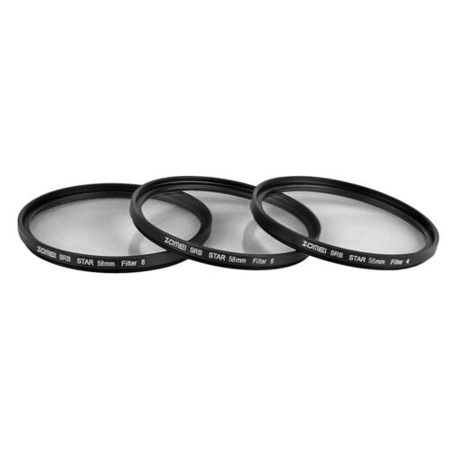 ZOMEI 58mm Star-Effect Starburst 4+6+8 Points Lens Filter for Cameras