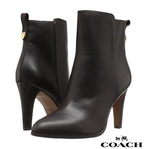 Image Is Loading Coach Jemma Women 039 S Boots Leather Booties