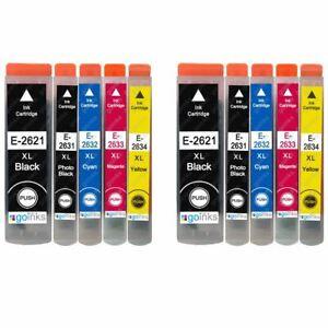 10 Tintenpatronen (Set) für Epson Expression Premium XP-520 XP-615 XP-710 XP-820