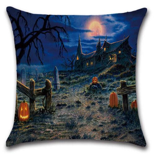 Halloween Emoji Decorative Throw Cushion Cover Home Sofa Bed Waist Pillow Case