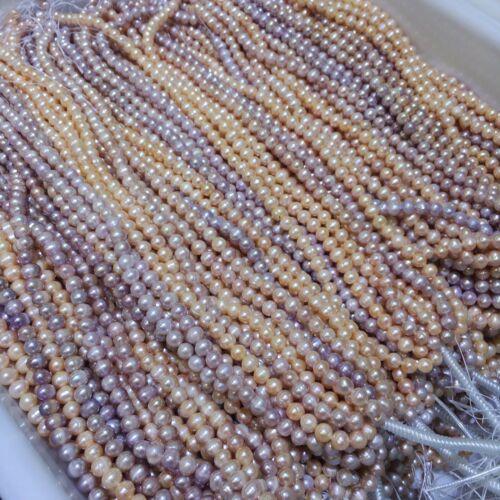 4//5//6//7//8//9//10mm Natural Freshwater Round Pearl Gemstone Loose Beads DIY Strand