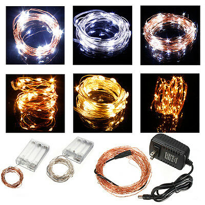 New Warm White/Cool White 2M/3M/10M LED Copper Wire LED String Fairy Lights Lamp