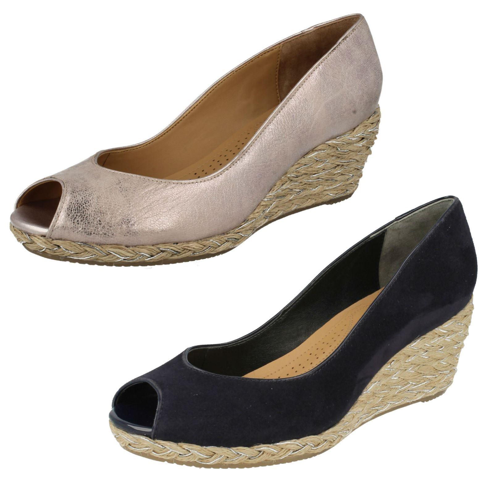 Van Van Van Dal Damas Peep Toe Cuña Zapatos 'Daly'  servicio considerado