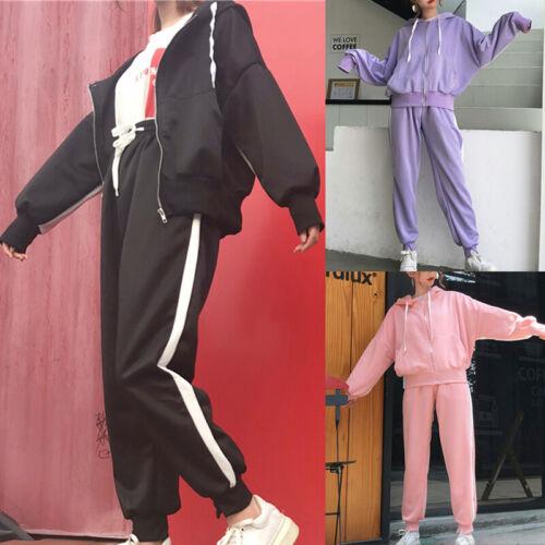 Women 2X Outdoors Tracksuit Hoodies Sweatshirt Pants Sets Sport Wear Zip Suit 03