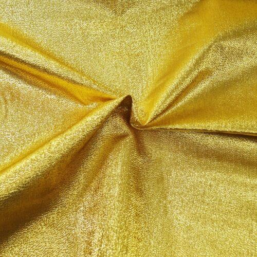 Metallic Crinkle Lame Plain Coloured Fabric Craft Dressmaking