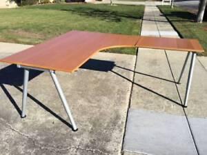 ikea galant corner desks custom sizes available this is light brown rh ebay com