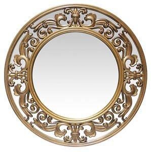 Victoria Gold Round Frame Ornate Vintage Decorative ...