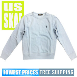 Polo-Ralph-Lauren-Womens-NWT-Sky-Blue-Long-Sleeve-Crewneck-Sweater-Free-Shipping