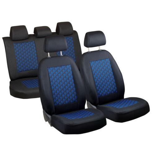 Schwarz-blau Effekt 3D Sitzbezüge für BMW SERIE 3 3er Autositzbezug Komplett