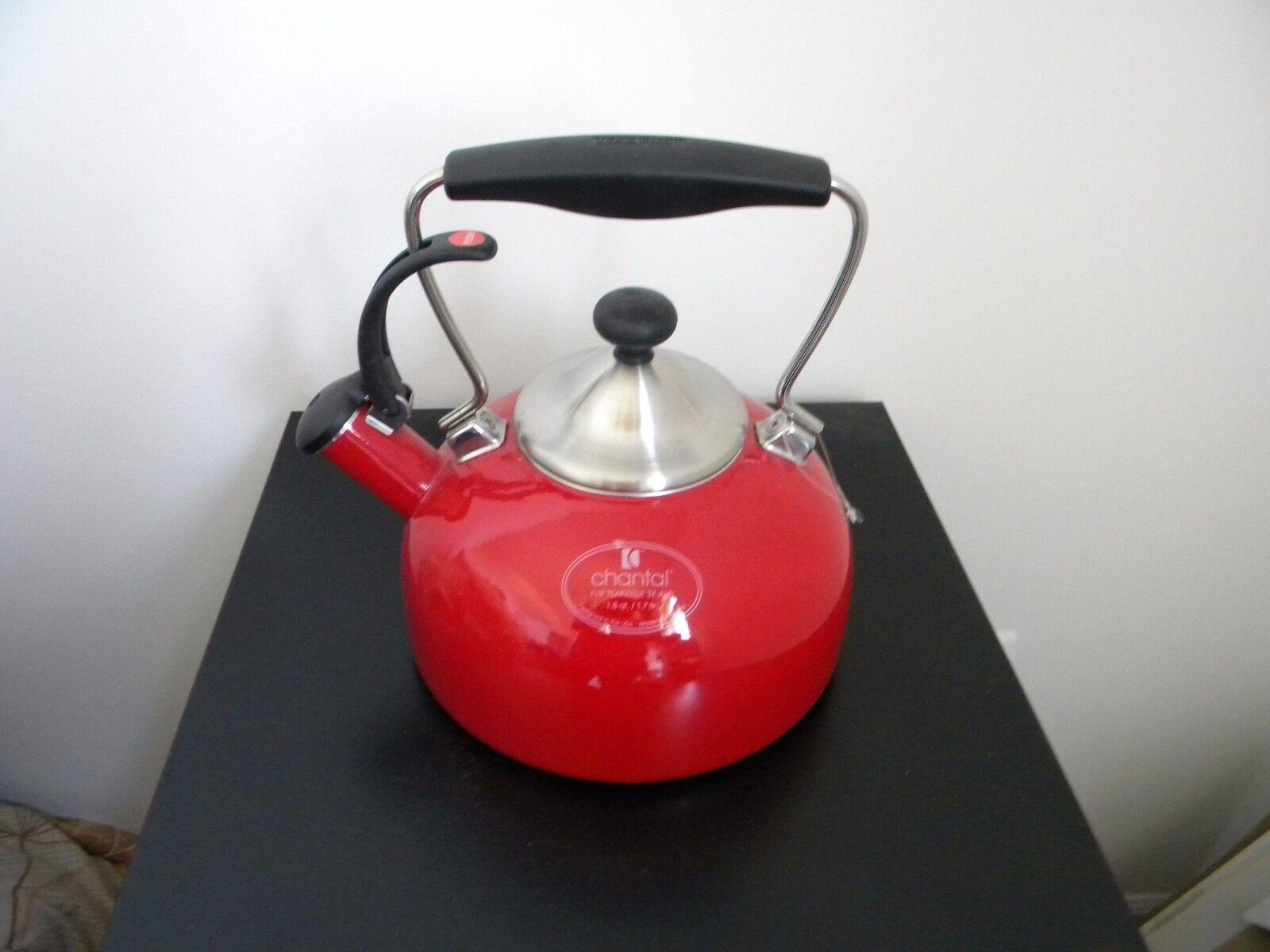 Chantal Tea Kettle Red color 1.8qt