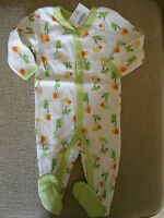 Gymboree Unisex Turtle Footed Pajamas With Snap Front
