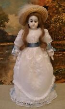 "Antique 14"" French/German closed mouth Belton bisque shoulder head doll"