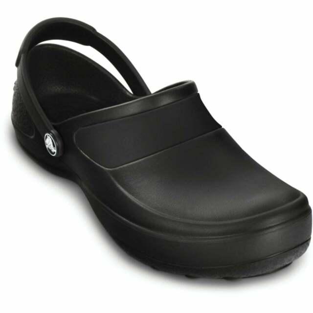 Ladies Crocs Black Synthetic Clog Mercy
