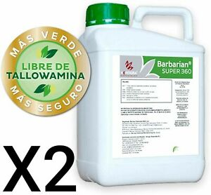 Désherbant Herbicide GLYPHOSAT 2X5L Barbarian SUPER 360 ...