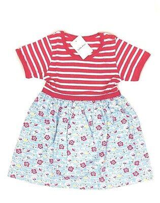 Girls 3T Blue// White Striped Short Sleeve Animal Design Dress Little Bitty