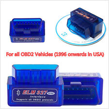 New Mini OBD2 II ELM327 V2.1 Bluetooth Car Scanner Code Reader Tool For Android