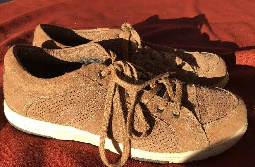 ABEO LITE CORT Men's 9.5 M Perforated Light Brown Leather Sneaker Shoes PM7