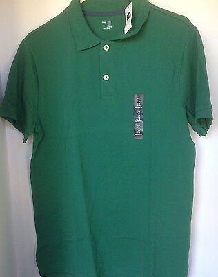 NWT GAP Men/'s Basic Pique Polo Shirt Atlantis Blue Medium Large MSRP$27 NEW