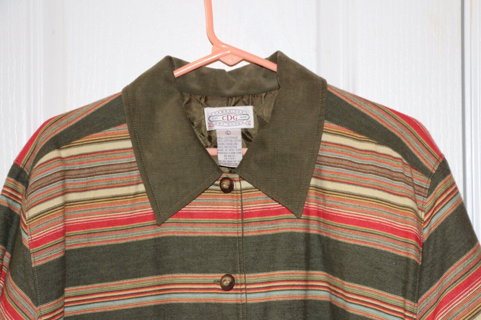 Cambridge Dry Goods Lined Jacket Size Large - image 3