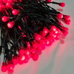100-Red-LED-Battery-Operated-Timer-Berry-Lights-6-9M-Christmas-XMAS