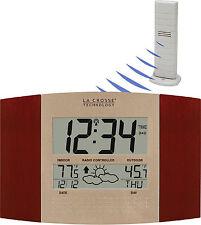 WS-8157U-CH-IT La Crosse Technology Atomic Digital Wall Clock Forecast TX37U-IT