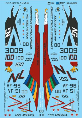 F-4b F-4j /& Vf-96 #Ms48038 Vf-51 Microscale Zeichen 1//48 F-4 Phantome Ii/'s
