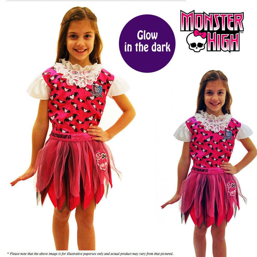 Monster High - Draculaura Costume *Glow in the Dark* Girls Halloween Fancy Dress