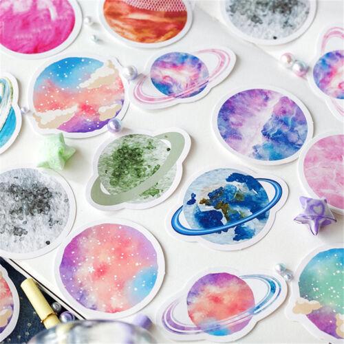 45pcs Colorful Planet Stickers Kawaii DIY Scrapbooking Decorations Label Sticker