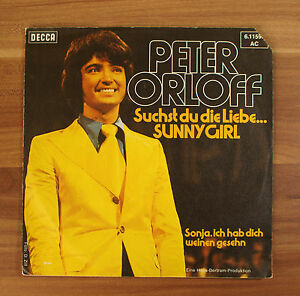 Single-7-034-VINYL-Peter-Orloff-stai-cercando-l-039-amore-Sunny-Girl-Sonja