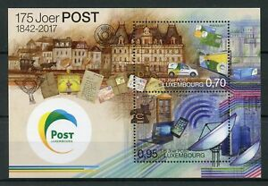 Luxembourg-2017-neuf-sans-charniere-Post-Luxembourg-175-ANS-2-V-M-S-Services-Postaux-timbres