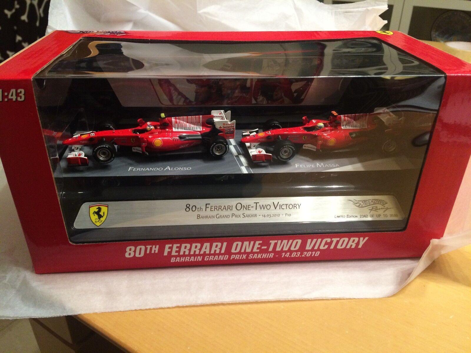 Ferrari Alonso & Massa Bahrain GP 2010 Double set to celebrate Ferrari`s 80th