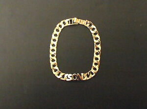 9ct-Solid-Gold-Name-Flat-Link-Curb-Bracelet-10mm-link-Fully-Hallmarked-8-5-inch