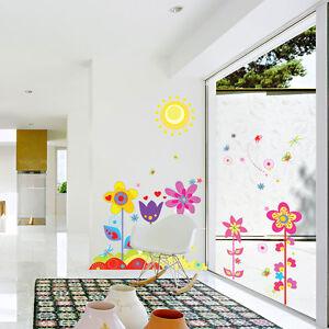 diy abnehmbare wandtattoo blumen wandsticker aufkleber kinderzimmer deko ebay. Black Bedroom Furniture Sets. Home Design Ideas