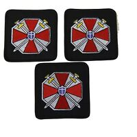 Resident Evil Umbrella Corporation With Swords Shield Embroidered Patch Set Of 3