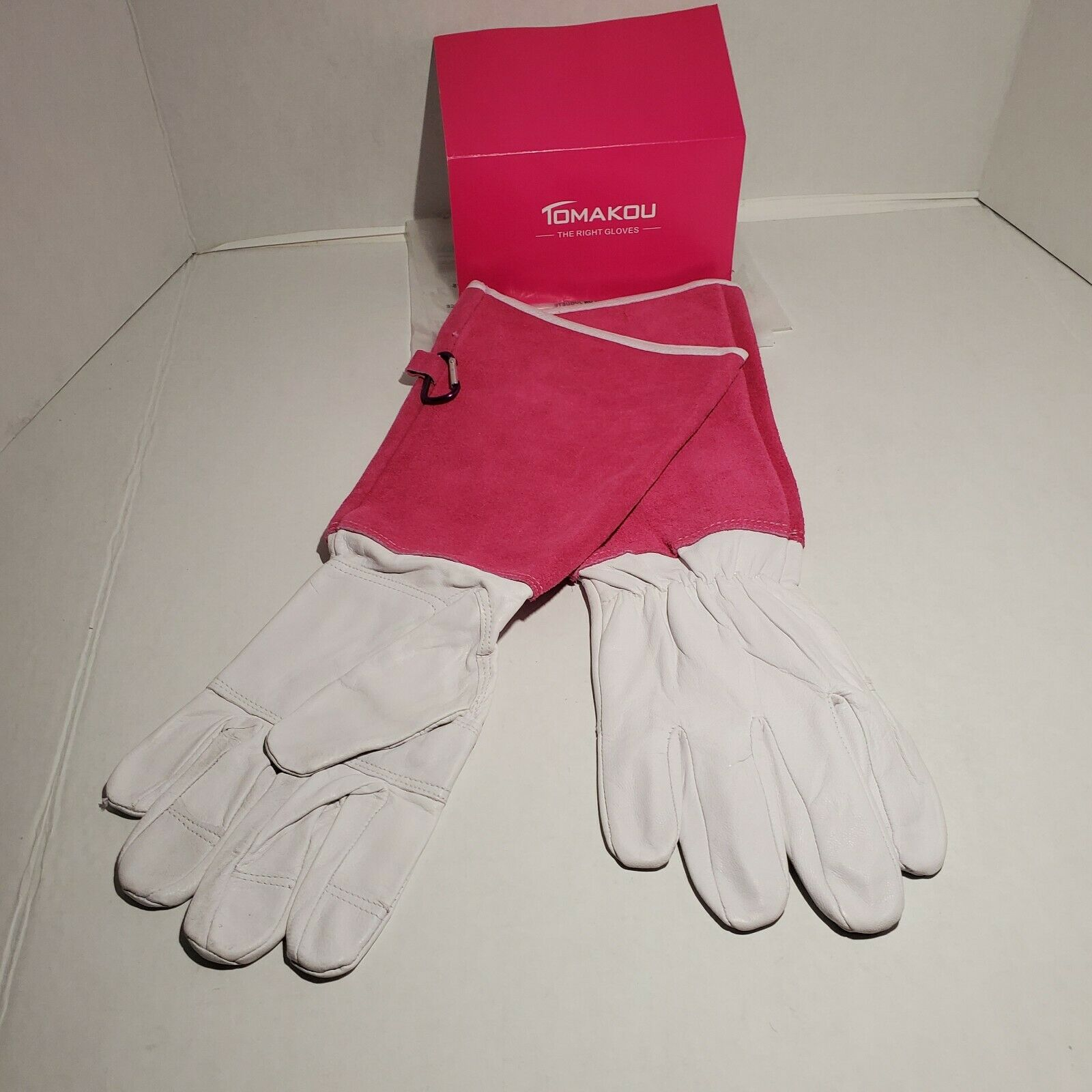 Pigskin Leather Gardening Gloves Rose Pruning Long Cuff Thornproof Work Gloves