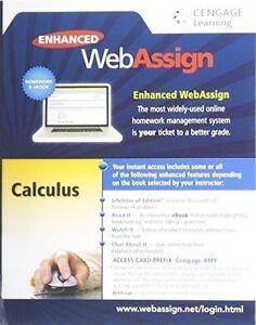 Calculus enhanced webassign access card ebook lifetime edition ebay stock photo fandeluxe Images