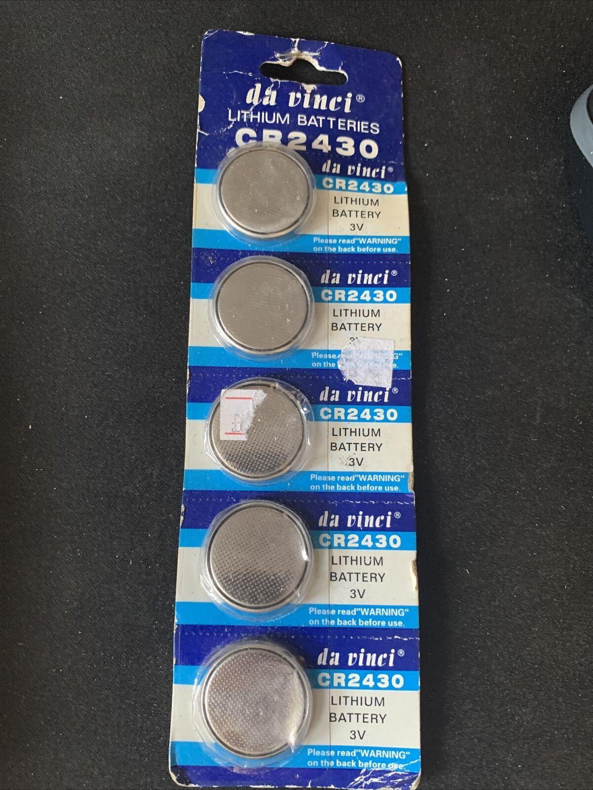 5 x CR2430 Batteries 3V Lithium Coin Cell Battery DL2430 K2430L ECR2430 Expired