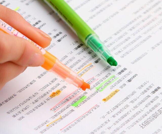 3 Way Marker Fun Pen Stationary Kids School Present UK Multi Colour Variety